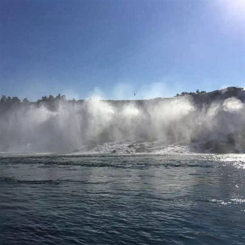 Picture of mist rising near Niagara Falls