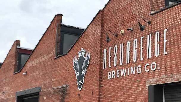 Resurgence Brewery out for sign